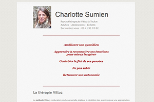 Charlotte Sumien - Psychothérapeute Vittoz Toulon, sites web depannage PC ordinateur formation informatique toulon mourillon