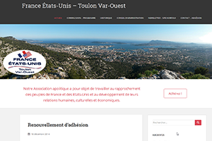 Association France Etats-Unis Toulon, sites web depannage PC ordinateur formation informatique toulon mourillon