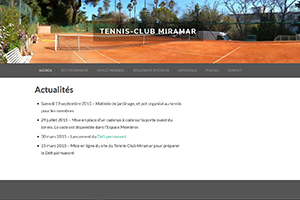 Tennis-Club Miramar, sites web depannage PC ordinateur formation informatique toulon mourillon