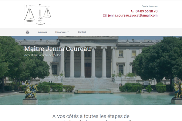 Maître Jenna Coureau Avocat, sites web depannage PC ordinateur formation informatique toulon mourillon