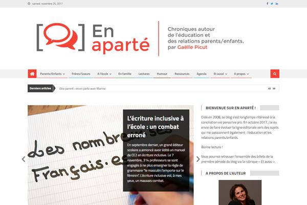 En aparté - Blog de Gaëlle Picut sur l'éducation et les relations parents/enfants, PFS Concept - Dépannage PC Formation domicile informatique Sites web Toulon Mourillon
